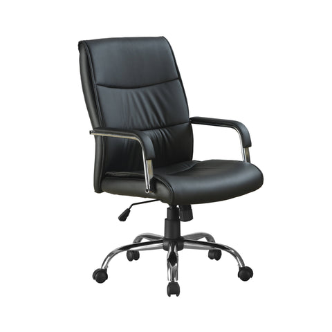 Sherika Office Chair - Black Leather-Look Fabric (4401121198132)