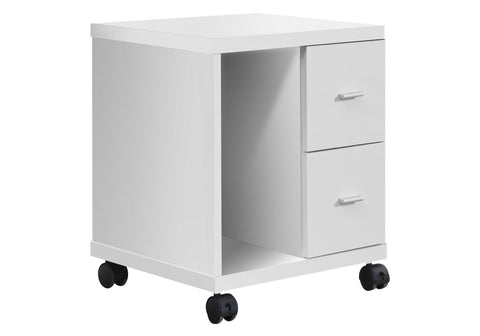 Catrice Office Cabinet - White With 2 Drawers On Castors (4405943074868)