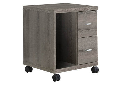 Elaine Office Cabinet - Dark Taupe With 2 Drawers On Castors