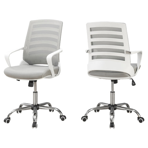 Thelma Office Chair - White / Grey Mesh / Multi Position (4401121296436)