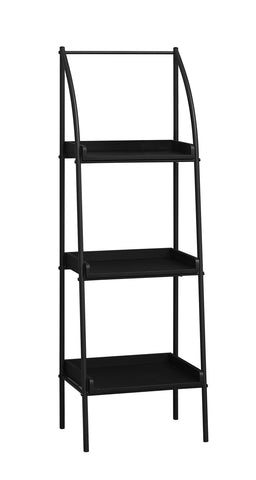 "Danna Bookcase - 48""H / Black / Black Metal"