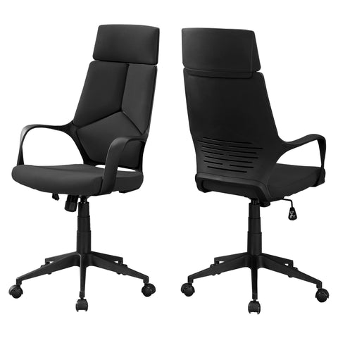 Kimi Office Chair - Black / Black Fabric / High Back Executive (4401122279476)