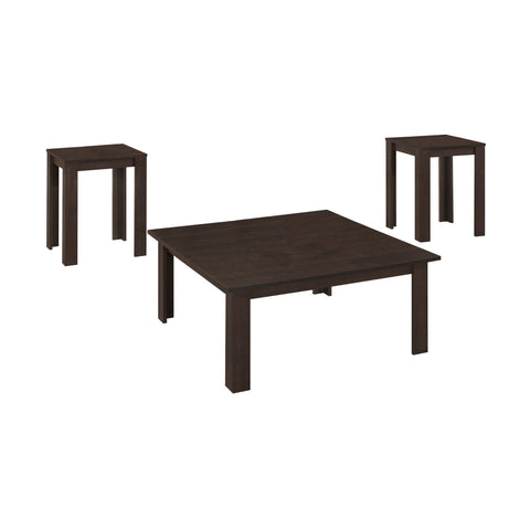 Lanora Table Set - 3Pcs Set / Cappuccino