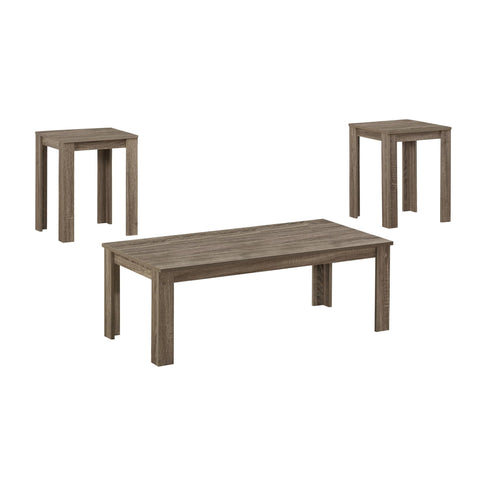 Shala Table Set - 3Pcs Set / Dark Taupe