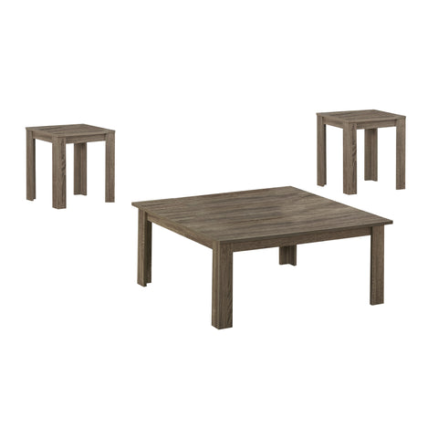Hilda Table Set - 3Pcs Set / Dark Taupe
