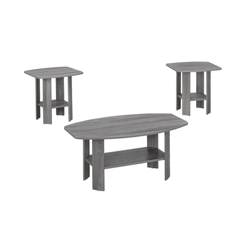 Guadalupe Table Set - 3Pcs Set / Grey (4391180337204)