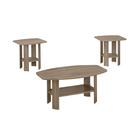 Darcy Table Set - 3Pcs Set / Dark Taupe