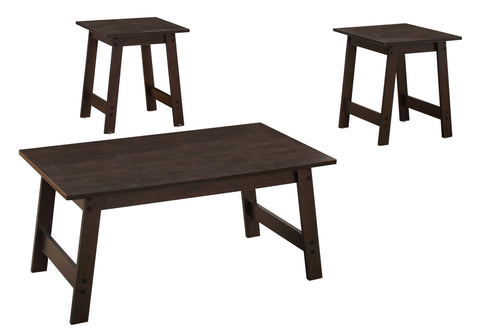 Marci Table Set - 3Pcs Set / Cappuccino (4391180599348)