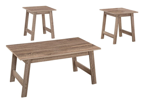 Elicia Table Set - 3Pcs Set / Dark Taupe (4391180730420)