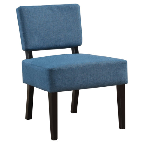 Angella Accent Chair - Blue Fabric (4391766491188)