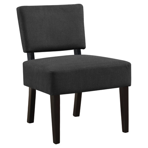 Karmen Accent Chair - Dark Grey Fabric (4391766622260)