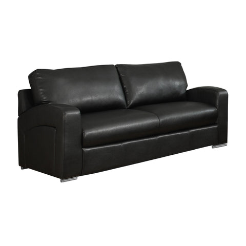 Marybelle Love Seat - Black Bonded Leather (4405946122292)