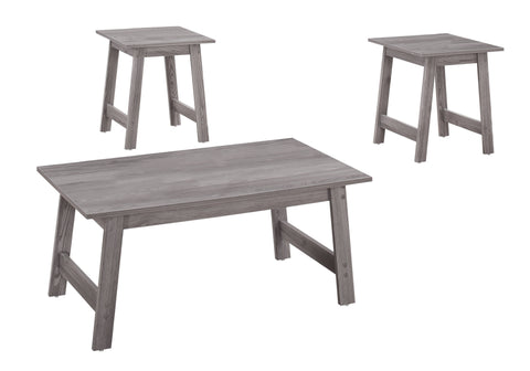 Lovetta Table Set - 3Pcs Set / Grey (4391180763188)