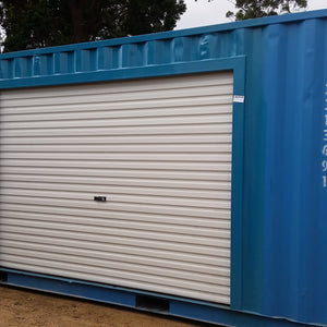 Roller Door in a shipping container