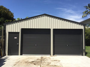 3000 x 3000w Ebony Roller Door (2 available) - Only $999 each