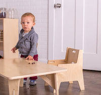 Montessori Weaning Table & Chair Set (Adjustable)
