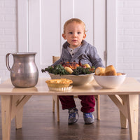 Montessori Weaning Table & Share Set (Adjustable)