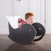 Wooden Whale Rocking Chair