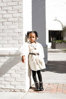 Kids Chiffon Sleeves Trench Coat