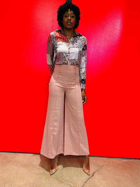 Blissfully Pink Wide Leg Pants