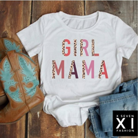 Girl Mama Leopard Multi-Pastel Color Shirt