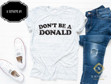 Don't be a Donald