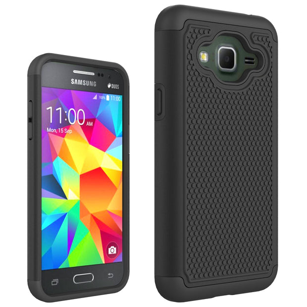 2 IN 1 Shockproof Protective PC +TPU Silicone Soft Football Phone Case For Samsung Galaxy J3 2016 J320 Cover Fundas Shell Coque