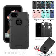 2in1 Hybrid Heavy Duty Protection Silicone Shock Absorber Protective Hard Case Cover For IPhone 8