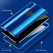 360 Full Plating Phone Cases For IPhone X 8 7 6 6S Plus Luxury Electraplating Mirror Cover For Samsung Galaxy S8 S7 Note 8 Case