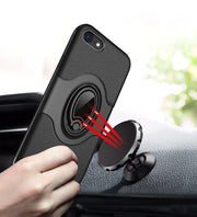 360 Degrees Adjustable Ring Stand Grip Shock Absorbing Soft TPU +Hard PC Back Cover Case For IPhone 7/iPhone 8