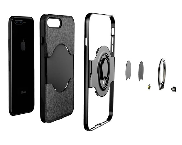 360 Degrees Adjustable Ring Stand Grip Shock Absorbing Soft TPU +Hard PC Back Cover Case For IPhone 7 Plus/iPhone 8 Plus