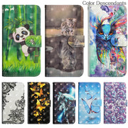3D Cat Tree Flip Case For Huawei P20 Lite Coque ANE LX1 LX3 L22 P20Lite Phone Leather Cover For Huawei P 20 Lite Case ANE-LX3