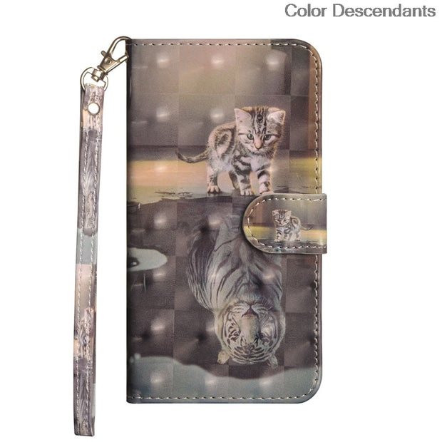 3D Cat Tree Flip Case For Lenovo S60 Coque S 60 S60-t S60-w S60W S60A S60-a Leather Phone Cover Case For Lenovo S60T Housing Bag