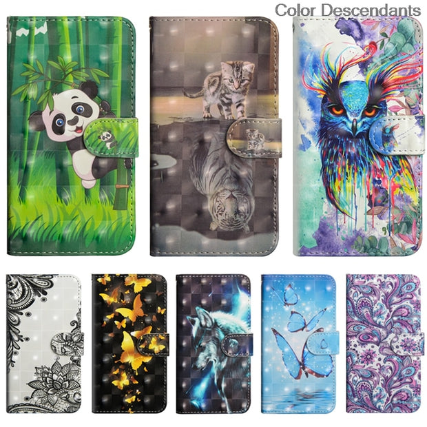 3D Cat Tree Flip Case For Samsung Galaxy S8 Plus S8Plus G955 G955F G955FD Leather Phone Cover For Samsung S8 Plus Case SM-G955FD
