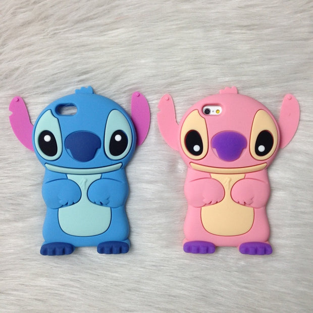 3d Cute Anime Cartoon Stitch Case For Iphone 7 Plus 8g 6s Plus 5g 5s S Canary Cases