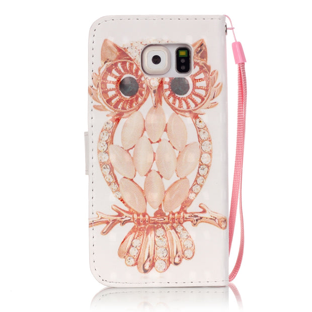 3D Painting Flip Case For Samsung Galaxy S6 S 6 GalaxyS6 SM G920 G920F G920FD G920W8 SM-G920F SM-G920FD Case Phone Leather Cover
