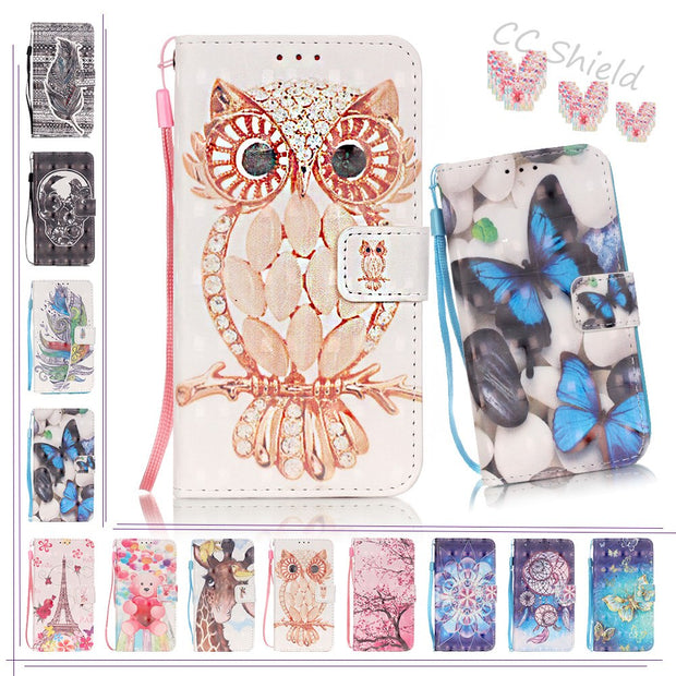 3D Painting Flip Case For Samsung Galaxy S6 S 6 Edge G925 G925F G925i G925J SM-G925 SM-G925F SM-G925i Case Phone Leather Cover