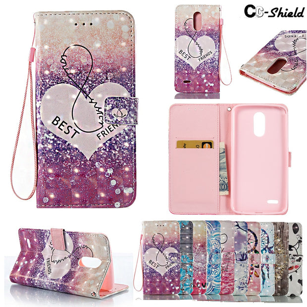 3D Painting Case For LG Stylus 3 Dual M400 DK DY DF Wallet Card Slot Phone Leather Case For LG Stylus3 M400DK M400DF M400DY Bag