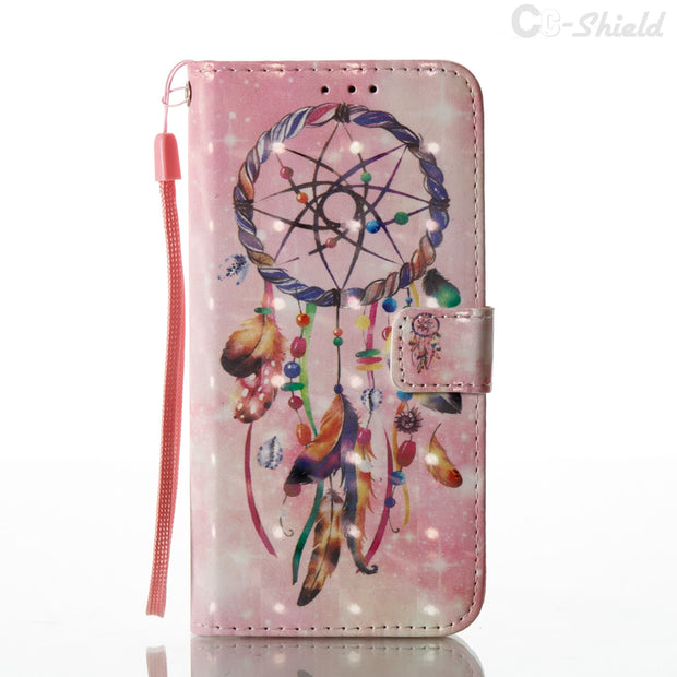 3D Painting Case For Samsung Galaxy S 8 S8 SM-G950F SM-G950A SM-G950V SM-G950T SM-G950W SM-G950P SM-G950U Phone Leather Case