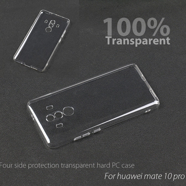 4 Sides Protective Ultra Clear Crystal Transparent Hard Back Case Cover Shell For Huawei Mate 10 Pro