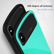 !ACCEZZ Silicone Full Protection Case For IPhone X 7 8 Plus PC Frame Hard Colorful Back Cover Funda Chic Phone Cases Coque Shell