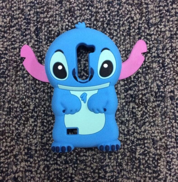 AIPUWEI 3D Cartoon Soft Silicone Back Cover Lilo Stitch Case For LG Leon 4G LTE C40 C50 H324 H340N H320 Coque Funda Capa Shell