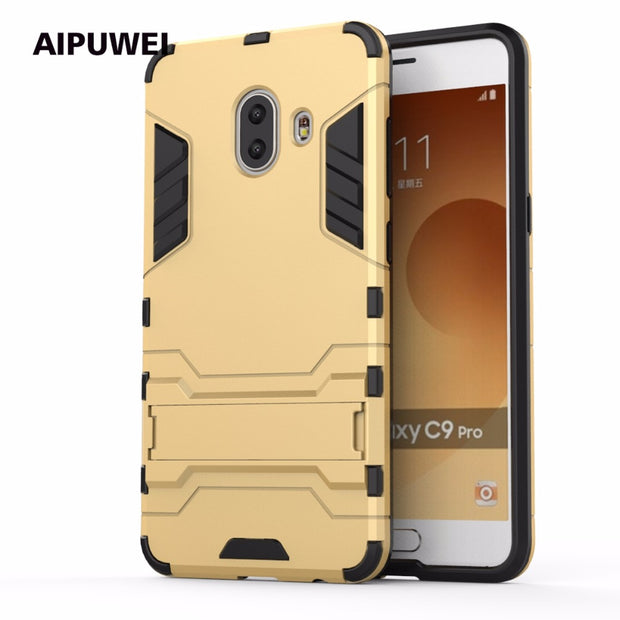 AIPUWEI CASE FOR Samsung Galaxy C10 Case, FOR Galaxy C10 Cover, Shockproof Hybrid Hard Shell Cover With Kickstand CAPA FUNDAS