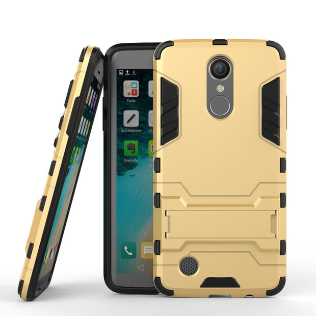 AIPUWEI FASHION Phone Cases For LG Aristo LV3 Case Hard TPU+PC Armor With Stand Back Cover For LG LV3 MS210/K8 2017 Shell CAPA