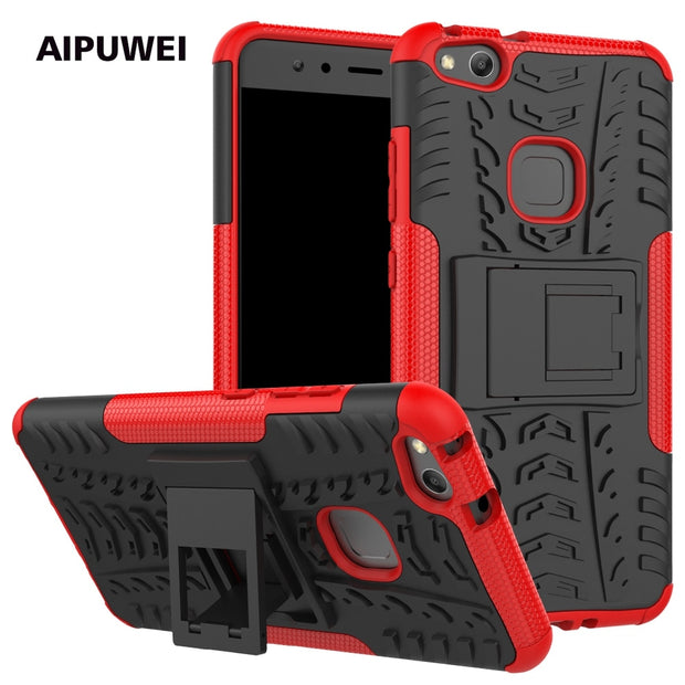 AIPUWEI FOR Huawei P10 Case Huawei P10 LITE Cover Silicone PLASTIC HARD Phone Case For Huawei P10 Luxury FASHION ARMOR ROBOT BAG
