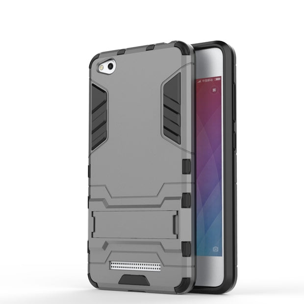 AIPUWEI Case For Xiaomi Redmi 4a Cover Iron Man Shockproof Cover Containing Stent TPU+PC+Stand For Xiaomi Redmi 4A Cover Capa