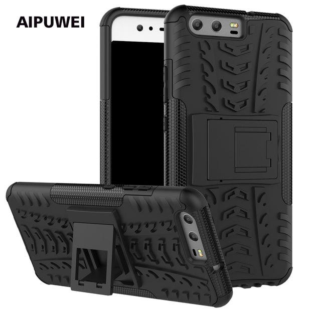 AIPUWEI For Huawei P10 Case Cover TPU + PC Hard Protective Back Cover With Stand Phone Shell For Huawei P10 Capa (5.1 Inch) Bag