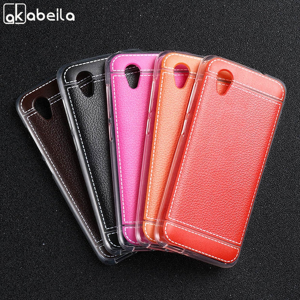 AKABEILA PU Phone Cases For Alcatel 1 5033D 5033 5033A 5033Y 5033X Case Silicon TPU Full Cover For Alcatel 3 5052D 5052Y
