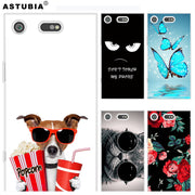 ASTUBIA Case For Sony Xperia XA XA1 Case Glasses Cat Dog Cover For Sony Xperia XZ Premium Case For Sony Xperia L1 XZ XZ1 Compact
