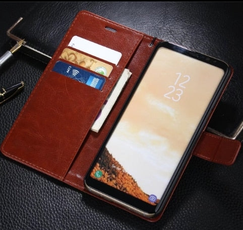 "AZNS For GALAXY S8 Plus S8+ Card Holder Cover Case For Samsung GALAXY S8 Plus S8+ 6.2"" Leather Phone Case Wallet Flip Cover"